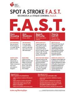Spot a Stroke F.A.S.T Poster (Bilingual), AHA