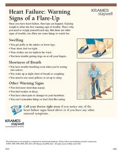 Heart Failure: Warning Signs of a Flare-up, CarePlanner Tearsheet