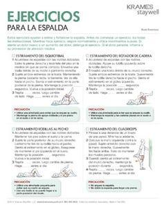 Back Exercises (Spanish)