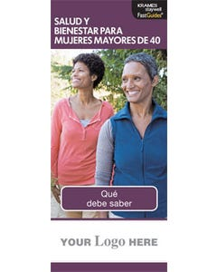 Health and Wellness for Women Over 40, FastGuide (Spanish)
