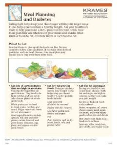 Meal Planning and Diabetes