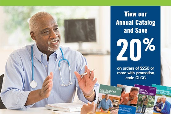 View our Annual Catalog and Save 20% on orders of $250 or more with promotion code GLCG