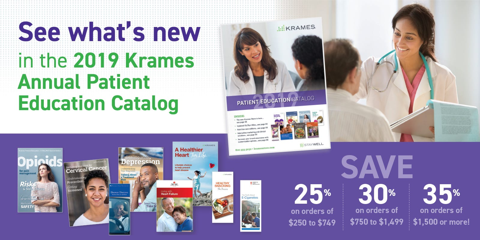 See what's New in the 2019 Krames Annal Patient Education Catalog