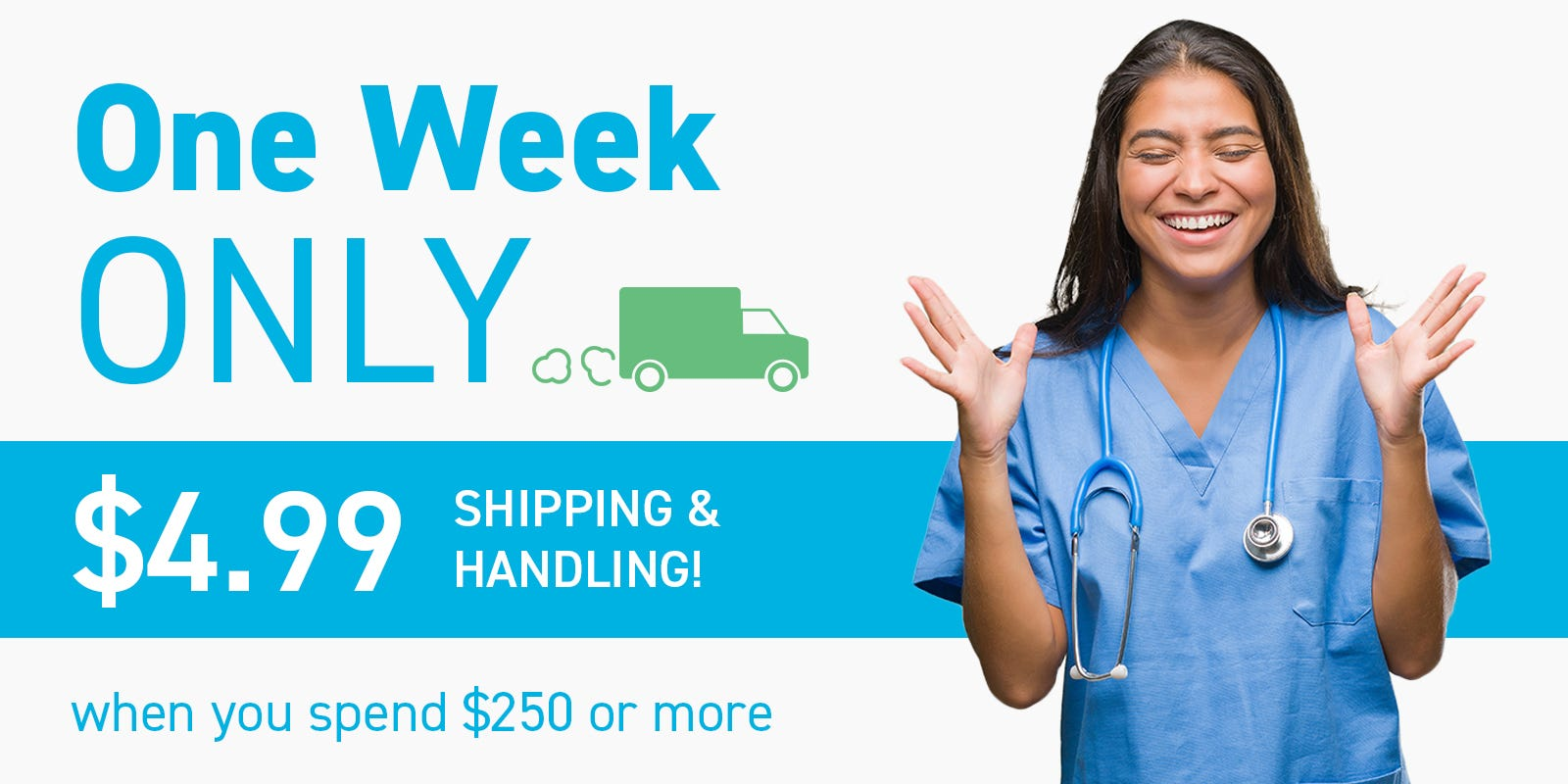 One Week Only: $4.99 Shipping & Handling
